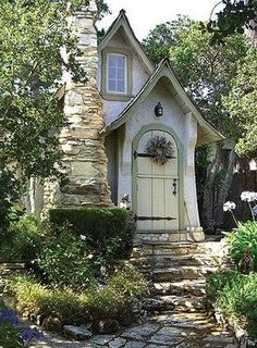 how could you be sad coming home to a house like this? it looks like something out of a fairy tale!