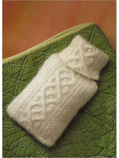 Aran Knitted Hot-Water Bottle Cover pattern.