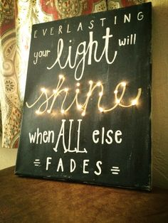 DIY canvas art with lights and Jesus, what could be better? Love this song!