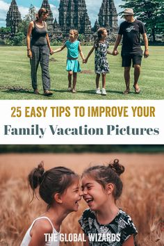 Do you want to improve your family travel photography? These 25 easy tips will help you to take better family travel pictures on your next vacation. The tips are applicable to everybody, regardless of the camera you use or how much experience you have. Travel Advice, Travel Hacks, Travel Ideas, Travel Tips, Travel Articles, Travel Goals, Travel Packing, Travel Quotes, Travel With Kids