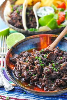 Slow Cooker Beef Barbacoa Chuck Roast Recipes, Beef Chuck Roast, Crockpot Recipes, Roast Beef, Cooker Recipes, Slow Cooker Casserole, Spicy Dishes, Beef Dishes, Kitchens