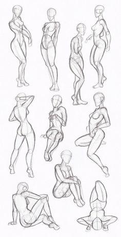Copy's and Studies: Kate-FoX fem body's by WonderingMind23 on DeviantArt