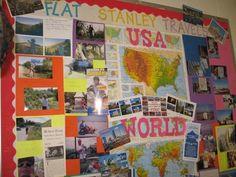 Flat Stanley travels the world Social Studies Activities, Teaching Social Studies, Book Activities, Flat Stanley, Preschool Scavenger Hunt, Teacher Hacks, Teacher Stuff, School Days, School Stuff