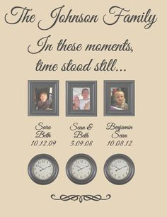 Family Name Personalized Wall Decal - A Moment In Time Changed Forever- 6…