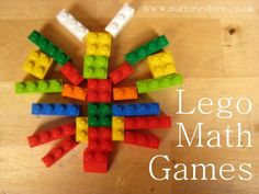 How do you play with lego in your house?  WE love these ideas for using it for fun maths games.