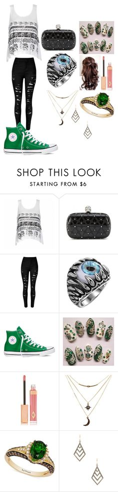 """Untitled #435"" by lucy-smith-2 ❤ liked on Polyvore featuring Ally Fashion, Alexander McQueen, Converse, Charlotte Tilbury, Charlotte Russe, LE VIAN and ZoÃ« Chicco"