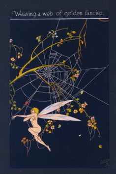NEAR MINT ! NUDE FAIRY CAUGHT IN SPIDER WEB,ALICE MARSHALL,TUCK FANTASY POSTCARD in Collectibles, Fantasy, Mythical & Magic, Fairies, Cards | eBay