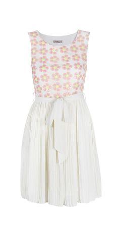 Cream Sequin Molly Sleeveless Dress