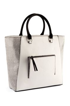 H structured tote bag- nice shape, simple straps, but will it make my butt look big? Jk
