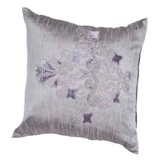 Mineral - Contemporary - 20 inch Pillow - Set of 2 -JAR-PLSQ860556-0007. Mineral - Contemporary - 20 inch Pillow - Set of 2 -JAR-PLSQ860556-0007 The mineral collection is a beautifully designed range of pillows on a poly dupione base in shades of metallic. Subtle tonal embroidery, lace applique an.. . See More Decorative Pillows at http://www.ourgreatshop.com/Decorative-Pillows-C685.aspx