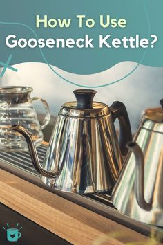 If you want to do pour over coffee right, you need to control the water flow with a gooseneck kettle. Here are our favourite gooseneck kettles. #gooseneck #kettle #coffee Coffee Type, Great Coffee, Pour Over Kettle, Coffee Accessories, Coffee Health Benefits, Pour Over Coffee, Bulletproof Coffee, Coffee Lover Gifts, Kettles