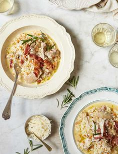 Chicken and pancetta risotto - sainsbury's magazine - very yum but maybe only add 800 ml of stock to start with as quite moist.
