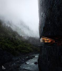 Cliff House Architecture Design and Concept 48 Architecture Design, Amazing Architecture, Building Architecture, Fashion Architecture, Minimalist Architecture, Conceptual Architecture, Cliff House, House Goals, Exterior Design