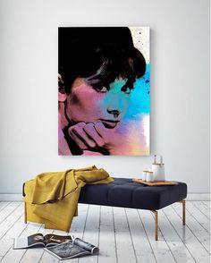 Audrey Hepburn Rainbow Watercolor Canvas Art @ http://artzeedesigns.com/products/audrey-hepburn-rainbow-watercolor-canvas-art.html