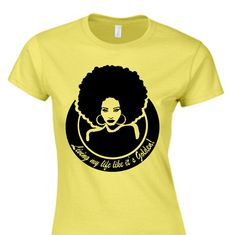 Hey, I found this really awesome Etsy listing at https://www.etsy.com/listing/128278185/afro-t-shirt-original-life-is-golden-t