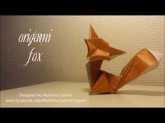 Origami Fox Tutorial (designed by Mathieu Gueros in Origami Fox designed and folded by Mathieu Gueros All Right Reserved I use bicolore c Origami Ball, Diy Origami, Origami Owl Disney, Origami And Kirigami, Paper Crafts Origami, Origami Design, Origami Instructions, Origami Tutorial, Origami Patterns
