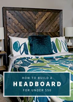 How to make a DIY version of the headboard on the Alexa bed from West Elm for under $50.