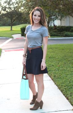 fall boots and skirts | thetrendyprofessional.com