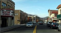Suffern, NY.  Main St. in town.  A two-squared-mile village nestled in the Ramapo Mountains.