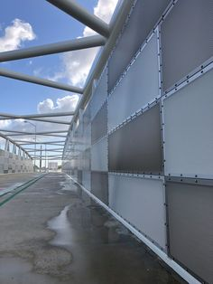 Locker perforated 5mm anodised aluminium screens with 6.53mm holes used on the brand new Mitchell Freeway Principal Shared Path and Scarborough Beach Road footbridge #lockergroup #bmdgroup #anodiserswa #perforatedpanels #aluminiumscreens #perforated #anodised #anodisedaluminium Scarborough Beach, Aluminum Screen, Beach Road, Screens, Paths, Lockers, Group, Outdoor, Canvases