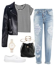 """""""Untitled #80"""" by nirmaladv on Polyvore featuring Dsquared2, Monki, Yves Saint Laurent, Wet Seal, Vans and Olivia Burton"""