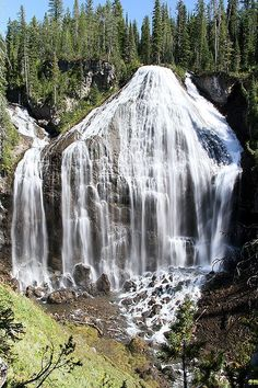 Union Falls in Yellowstone National Park. 15.6 miles - Moderate to Difficult. At a height of 260 feet, Union Falls is the second highest waterfall in Yellowstone. Its unique shape makes it one of the park's most picturesque landscapes. Combine this hike with a trip to Terraced Falls Trail and you'll enjoy a rewarding day in Yellowstone's Cascade Corner.