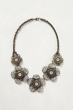 Filigree Snowflower Bib #anthropologie