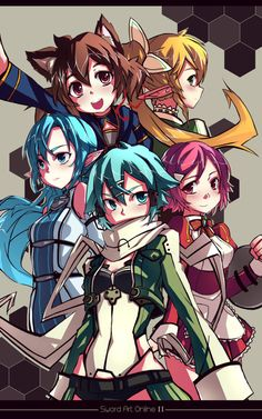 Sword Arts Online II Girls by Kouken on @DeviantArt