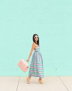 $121 ASOS SALON Lace Placed Multi Strap Back Midi Prom Dress Teamed With $60 BP. Open Toe Dress Sandal Accessorized With Cute Sunnies And Pastel Pink Handbag Tumblr