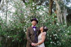 Magnolia Plantation Wedding Couple Portrait