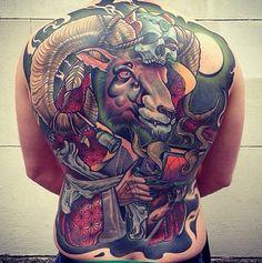 Tattoo done by Bartosz Panas. Full Back Tattoos, Back Tattoos For Guys, Foot Tattoos, Girl Tattoos, Tatoos, Tattoo Feet, Monkey Tattoos, Backpiece Tattoo, Tattoo Son