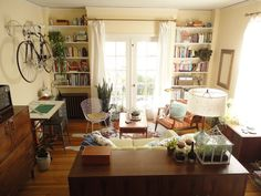 Tiny apartment with bike