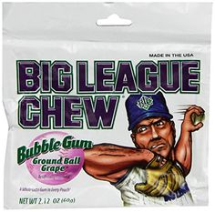 BIG LEAGUE CHEW bubble gum GRAPE 12 pack ** Read more reviews of the product by visiting the link on the image.Note:It is affiliate link to Amazon.