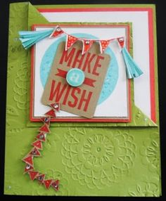Cards 395 - PENNY TOKENS STAMPIN SPOT: Celebrate Today & Make a Wish