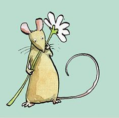 Mouse and Daisy Blue Mini Card. Two Bad Mice have a wide range of Greeting cards for pet mice and rat admirers. Animal Drawings, Cute Drawings, Cute Illustration, Cartoon Illustrations, Mouse Crafts, Cute Rats, Paint Cards, Cute Mouse, Watercolor Cards
