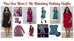 Plus Size Mommy and Me Matching Holiday Outfits | MomMeMatch.com