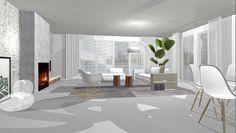 #visual #drawing #interiordesign #vitra #flexform #sketch #allwhite #3D #Lakehouse