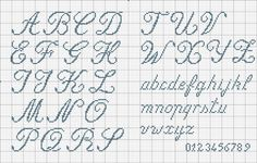 Aurelien alphabet monogram cross stitch