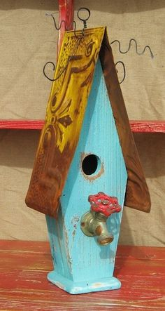 #birdhouse #repurposed #waterspout