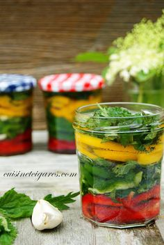 Lacto-fermented peppers Cuisine and Cigars Fermented Foods, Health And Nutrition, Healthy Drinks, Love Food, Pickles, Detox, Menu, Stuffed Peppers, Homemade