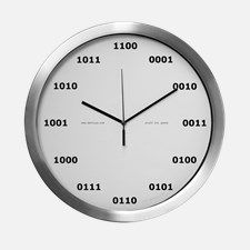 Binary Clock Modern Wall Clock for