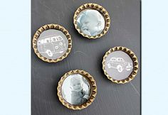 Easy Do it Yourself Crafts for the Home - Upcycled DIY Bottlecaps Magnets Tutorial - DIY Projects & Crafts by DIY JOY at http://diyjoy.com/quick-diy-projects-fast-crafts-ideas
