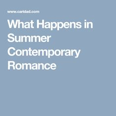 What Happens in Summer Contemporary Romance - Please visit www.caridad.com for more info!