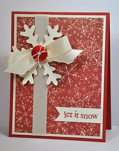 Simple red Christmas card