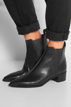 Acne Studios | Jensen leather ankle boots | NET-A-PORTER.COM