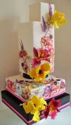 Hand Painted Cake - For all your cake decorating supplies, please visit craftcompany.co.uk