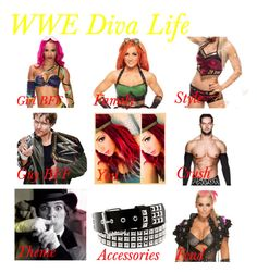 """My WWE Diva Life."" by jamiehemmings19 ❤ liked on Polyvore"