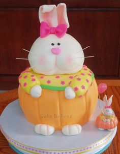 3D Bunny  By chasebrad on CakeCentral.com