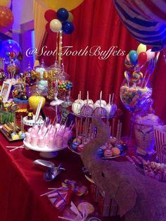 Circus Carnival Birthday Candy Buffet