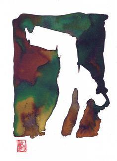 Encres : Capoeira – 424 [ #capoeira #watercolor #illustration]
